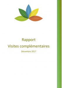 Rapport des visites complémentaires en régions
